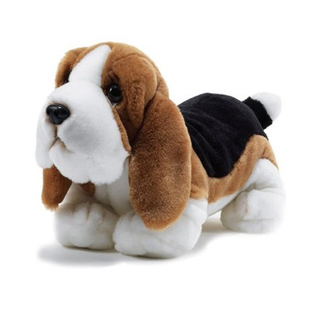 peluche chien basset 35 cm plush company mynoors. Black Bedroom Furniture Sets. Home Design Ideas