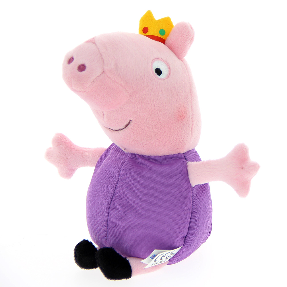 peluche peppa pig roi 20 cm barrado mynoors. Black Bedroom Furniture Sets. Home Design Ideas