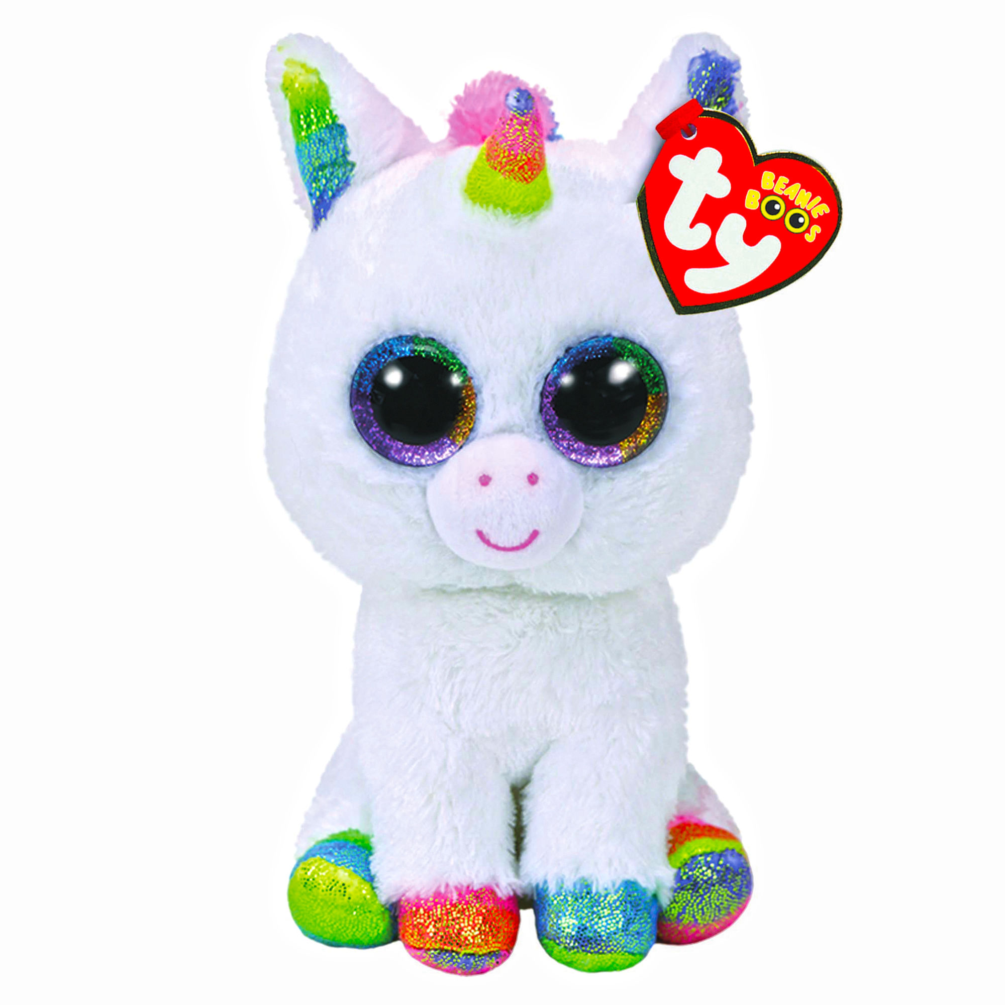 peluche licorne pixy aux gros yeux 15 cm ty mynoors. Black Bedroom Furniture Sets. Home Design Ideas